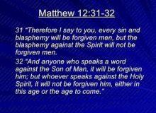 Unforgivable blasphemy